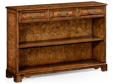 Jonathan Charles Nottinghamshire Light Rustic Burr Oak 54 x 14 Bookcase