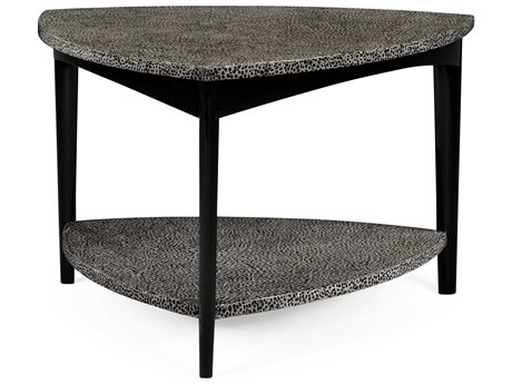 Jonathan Charles Curated collection Black On White Inverted Brown Eggshell Coffee Table