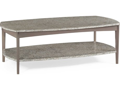 Jonathan Charles Curated collection Ivory On Black Inverted Brown Eggshell Coffee Table