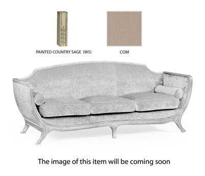 Jonathan Charles Versailles Painted Grey Weathered Sectional Sofa