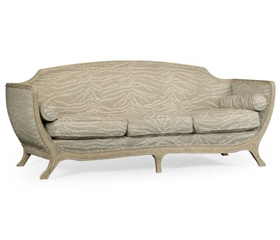 Jonathan Charles Versailles Limed Tulip Wood With Carved Floral Detail Sofa Couch
