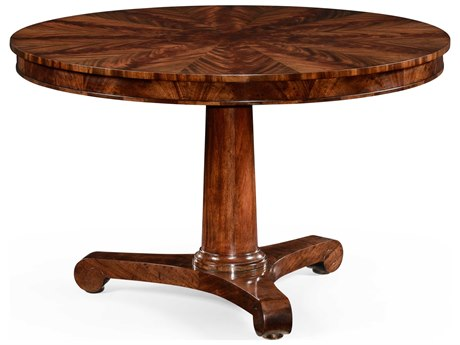 Jonathan Charles Knightsbridge Antique Mahogany Brown High Lustre 48 Round Dining Table