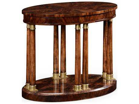 Jonathan Charles Knightsbridge Antique Mahogany Brown High Lustre 30 x 18 Oval End Table