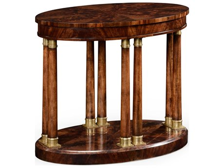 Jonathan Charles Knightsbridge Antique Mahogany Brown High Lustre 30 x 18 Oval End Table