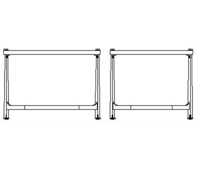 Jonathan Charles Luxe Gilded Iron 28 x 24 Rectangular Coffee Table