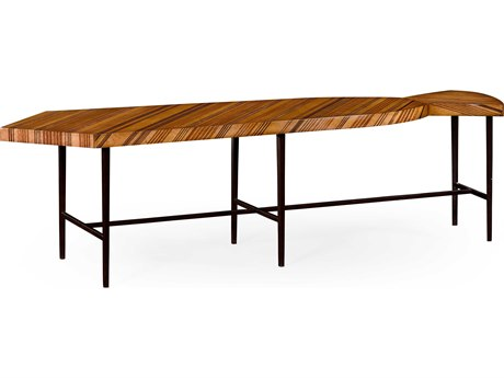 Jonathan Charles Alexander Julian Light Satinwood 70 x 19 Necktie Coffee Table