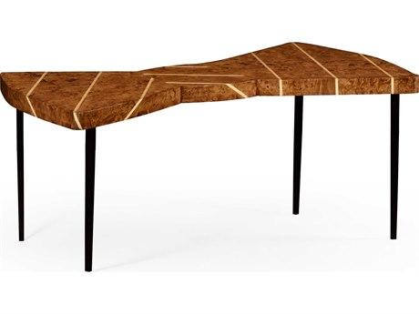Jonathan Charles Alexander Julian Light Rustic Burr Oak 48.5 x 28 Bowtie Coffee Table