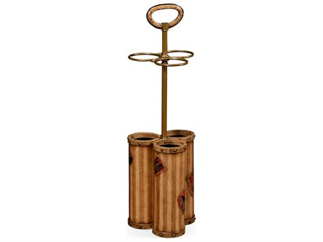 Jonathan Charles Voyager Lacquered Parchment Umbrella Stand Rack