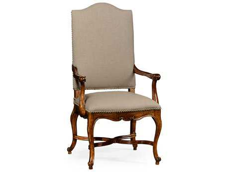 Jonathan Charles Windsor Medium Walnut Accent Chair