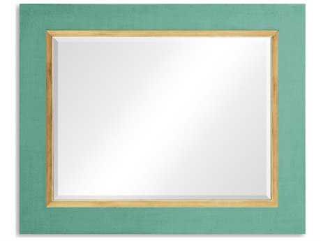 Jonathan Charles Alexander Julian 48 x 39 Robins Egg Homespun Wall Mirror