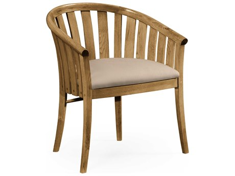 Jonathan Charles Natural Oak Natural Light Oak On Wood Accent Chair