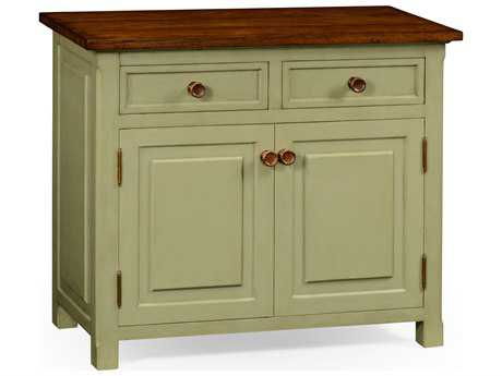 Jonathan Charles Huntingdon Painted Antique Ruskin Room Green Console Cabinet
