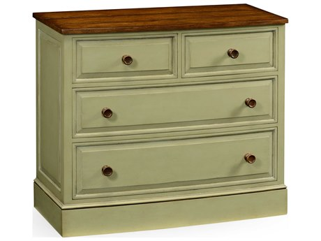 Jonathan Charles Huntingdon Painted Antique Ruskin Room Green Chest