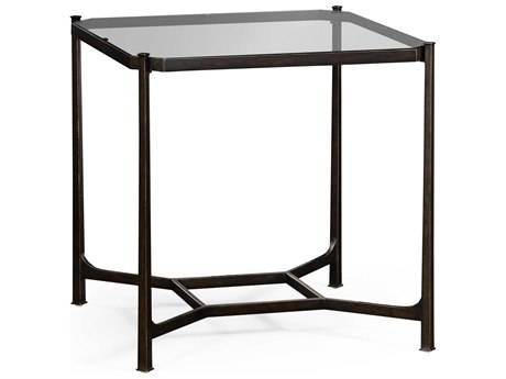 Jonathan Charles Luxe Antique Bronze Finish On Metal 28 Square End Table