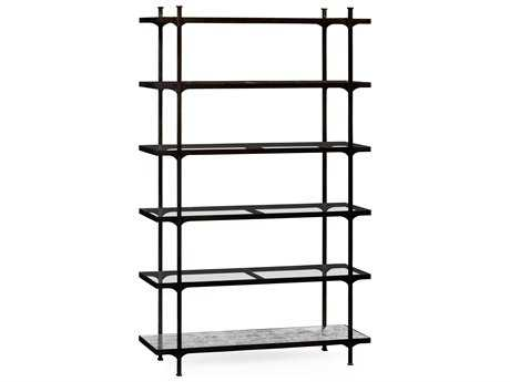 Jonathan Charles Luxe Antique Bronze Finish On Metal Etagere Rack