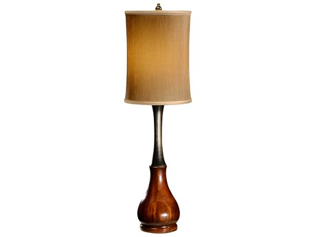 Jonathan Charles Buckingham Medium Antique Mahogany Table Lamp