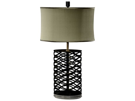 Jonathan Charles Luxe Antique Bronze Finish On Metal Table Lamp