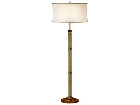 Jonathan Charles Cosmo Sage Homespun Finish Floor Lamp