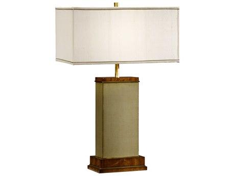 Jonathan Charles Cosmo Sage Homespun Finish Table Lamp