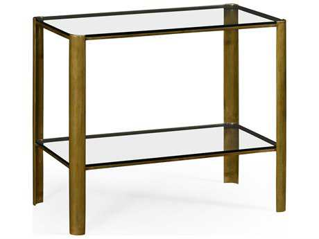 Jonathan Charles Cosmo Light Antique Brass 16 x 28 Rectangular End Table