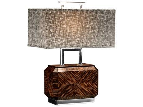 Jonathan Charles Metropolitan Faux Makassar Ebony Table Lamp