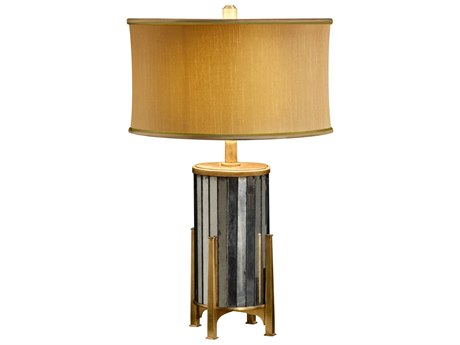 Jonathan Charles Luxe Glass Genuine Silver-Leaf Table Lamp