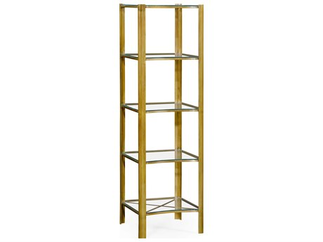 Jonathan Charles Cosmo Light Antique Brass Etagere Rack