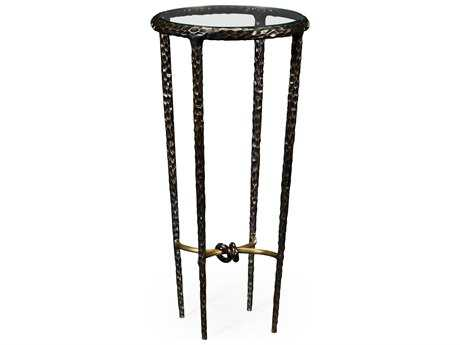 Jonathan Charles Stiletto Antique Black With Highlight 13 Round Bar Table