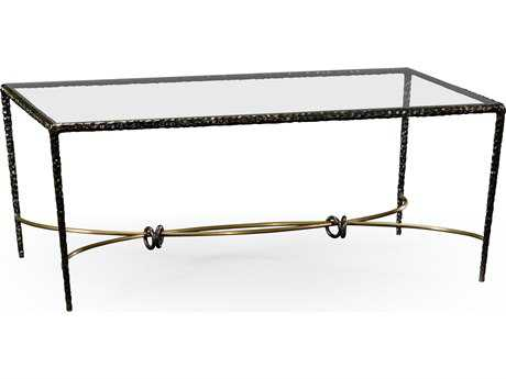 Jonathan Charles Stiletto Antique Black With Highlight 50 x 30 Rectangular Coffee Table