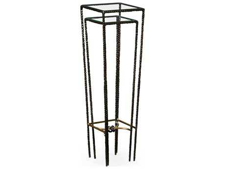 Jonathan Charles Stiletto Antique Black With Highlight 12 Square Nesting Table