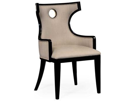 Jonathan Charles Knightsbridge Painted Formal Black Accent Chair