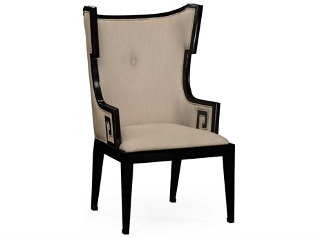 Jonathan Charles Windsor Painted Formal Black Accent Chair