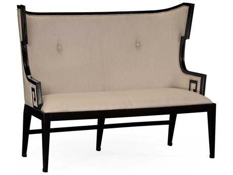 Jonathan Charles Windsor Painted Formal Black Accent Bench