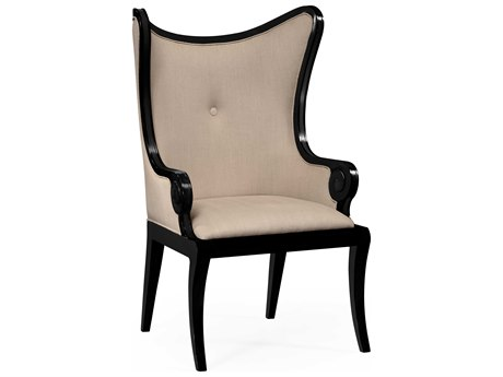 Jonathan Charles Knightsbridge Painted Formal Black Accent Chair