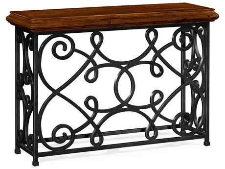 Jonathan Charles Artisan collection Rustic Walnut Finish Console Table