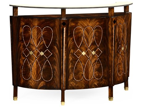 Jonathan Charles Knightsbridge collection Antique Mahogany Brown High Lustre Accent Desk