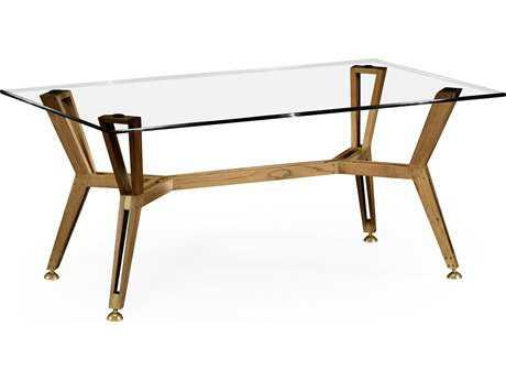 Jonathan Charles Architects House Light Washed Oak 48 x 28 Rectangular Coffee Table