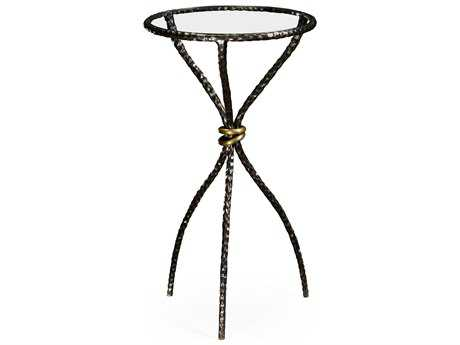 Jonathan Charles Stiletto Antique Black With Highlight 14 Round Bar Table