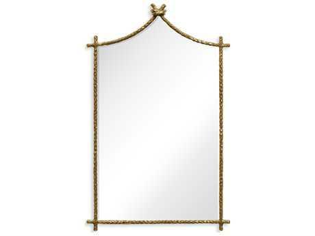 Jonathan Charles Stiletto 22 x 35 Light Brown Brass Wall Mirror