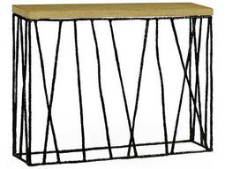 Jonathan Charles Artisan Antique Black With Highlight 48 x 12 Rectangular Console Table