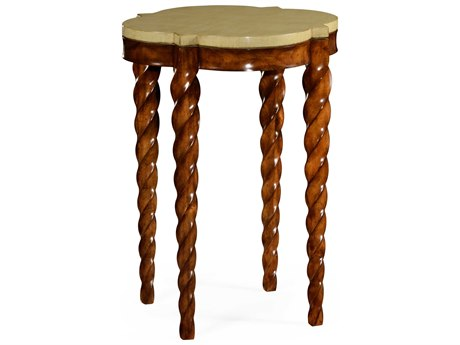 Jonathan Charles Twist Light Walnut 18 Square End Table