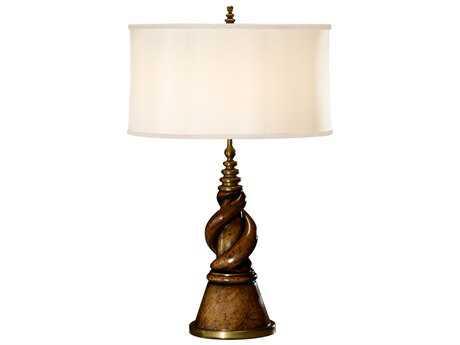 Jonathan Charles Windsor Walnut Table Lamp