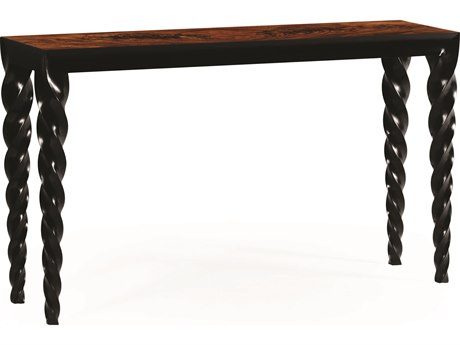 Jonathan Charles Twist collection Painted Formal Black Console Table