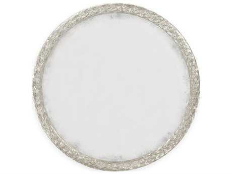 Jonathan Charles Versailles Antique Silver-Leaf With Carved Floral Detail Wall Mirror