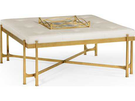 Jonathan Charles Luxe Gilded Iron Accent Bench