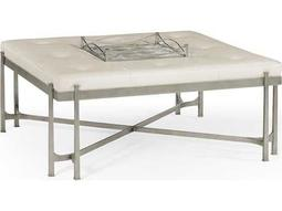 Jonathan Charles Luxe Gilded Antique Silver-Leaf Accent Bench