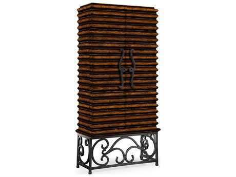 Jonathan Charles Artisan collection Rustic Walnut Finish Wine Rack