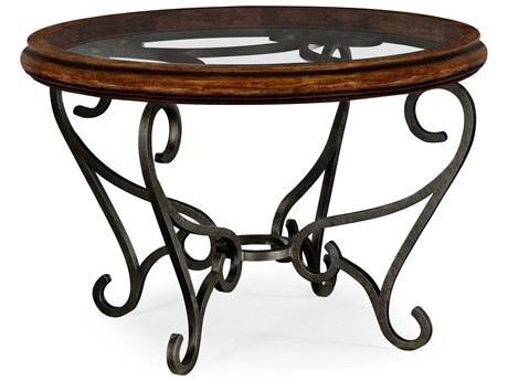 Jonathan Charles Artisan collection Rustic Walnut Finish Foyer Table