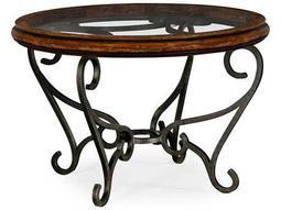 Jonathan Charles Artisan collection Rustic Walnut Finish Foyer Table