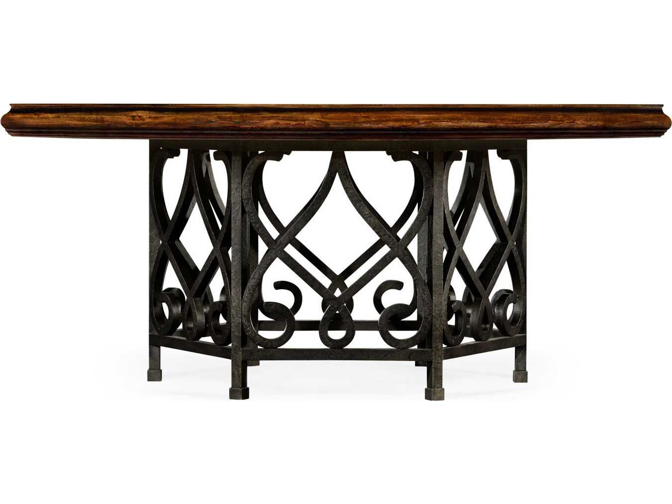 Jonathan charles artisan collection rustic walnut finish for Casual dining table decor